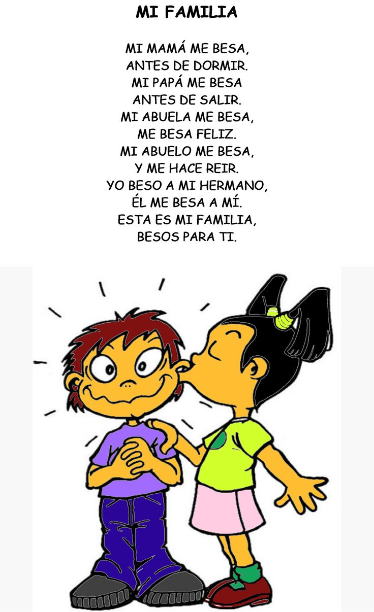 This poem has lots of Spanish family vocabulary. Good for learning family members in Spanish.