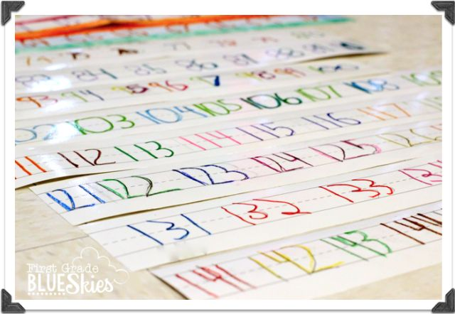 Exploring Numbers to 120 {FREEBIES} - First Grade Blue Skies