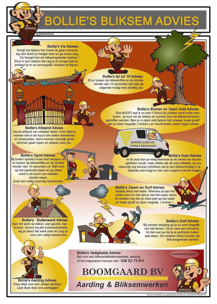 Adviezen van Bollie Bliksem om een onweersbui veilig te doorstaan!