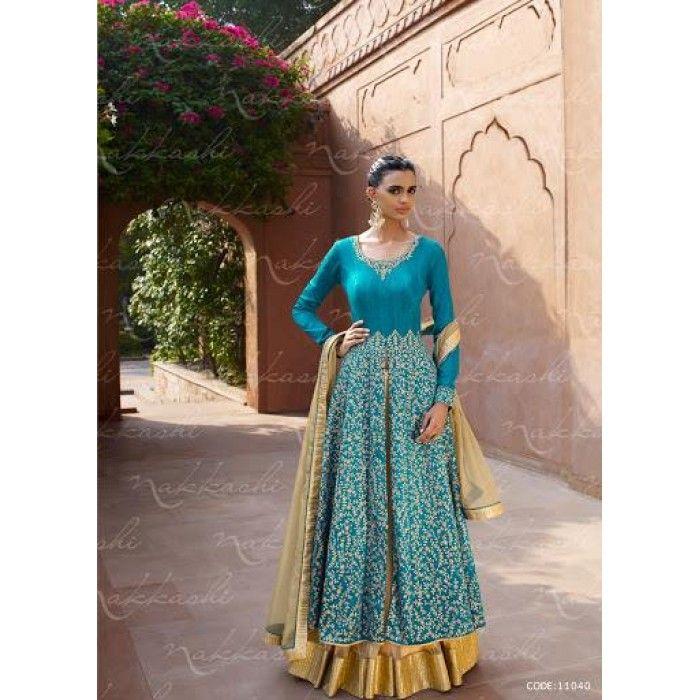 Vintage-look Designer Salwar Suit ( D.No.11040 )
