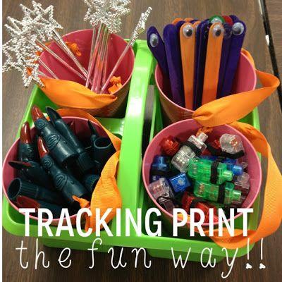 Tracking print--the FUN way!