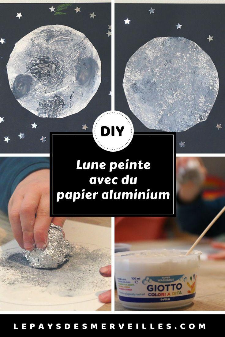 Activité Manuelle Avec Du Papier Peint peindre la lune avec du papier aluminium | boule de papier