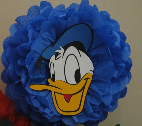 Hey, I found this really awesome Etsy listing at https://www.etsy.com/listing/85876632/disney-donald-duck-tissue-pom-pom-fun