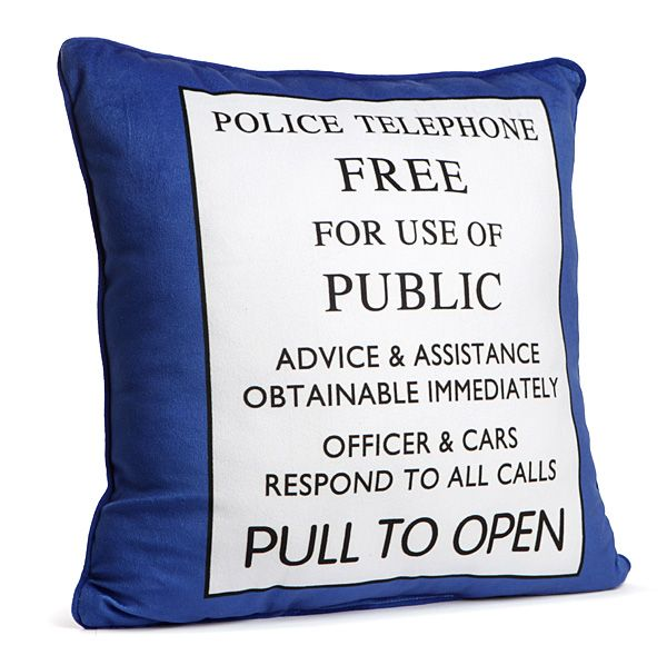 Doctor Who TARDIS Pillow $19.99