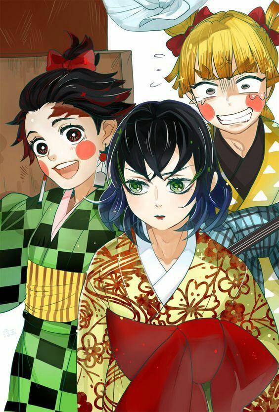 Kimetsu no Yaiba on sosmed Hantu, Karakter animasi, dan