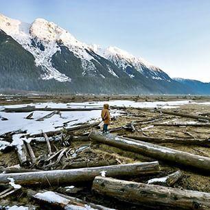 Stewart estuary (only a ten-minute drive from the border town of Hyder, Alaska).    (Photo: @alliharv via Instagram)  #exploreBC #explorecanada