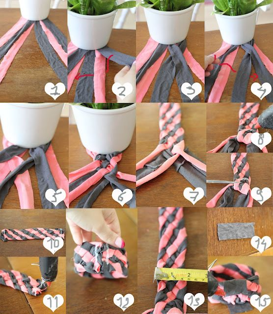 T-shirt bracelet tutorial! I may have to take some scraps camping this week!