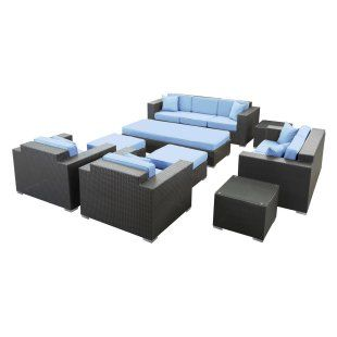3500 2 Groups Eclipse All Weather Wicker Conversation Set   Seats 7    Conversation Patio