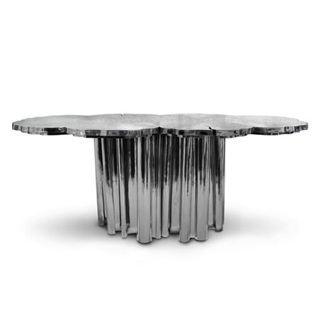 The Fortuna console, inspired bythe Roman Goddess of luck, is an elegant piece influenced by flora and natural elements