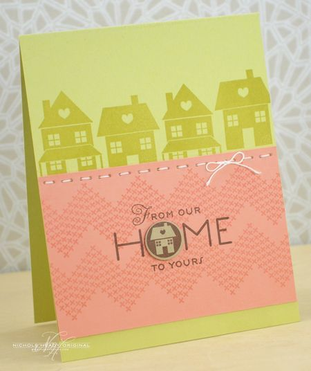 From Our Home To Yours Card by Nichole Heady for Papertrey Ink (September 2013)