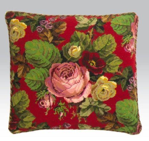 Ehrman-Designer-BERLIN-ROSES-tapestry-chart-pattern-flowers-Victorian-woolwork
