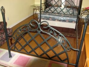 Iron Rod Bed Frame And Wooden Center Table Oakville