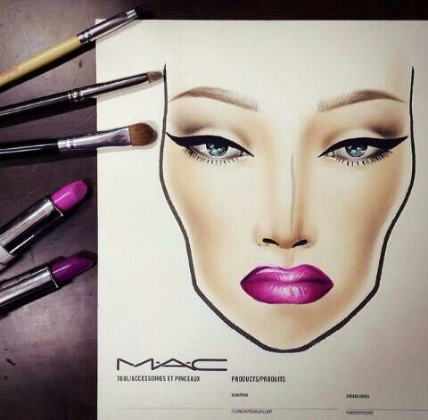 purple lip x cat eye