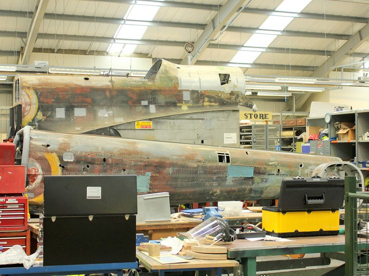 The two fuselage sections side by side. (photo by Geoff Jones)