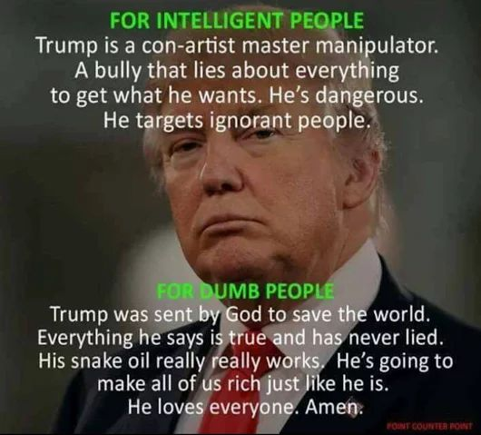 I honestly cant believe there are people in this world that believe this man is going to change America for the better!