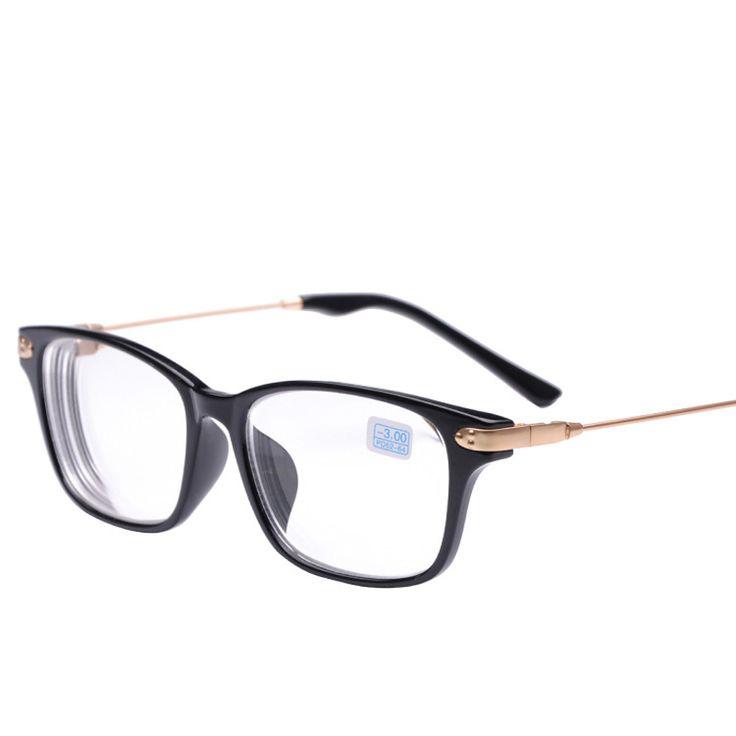 Peekaboo New brand high quality cheap prescription eyeglasses men student  -2 -1.5 discount myopia glasses women minus black