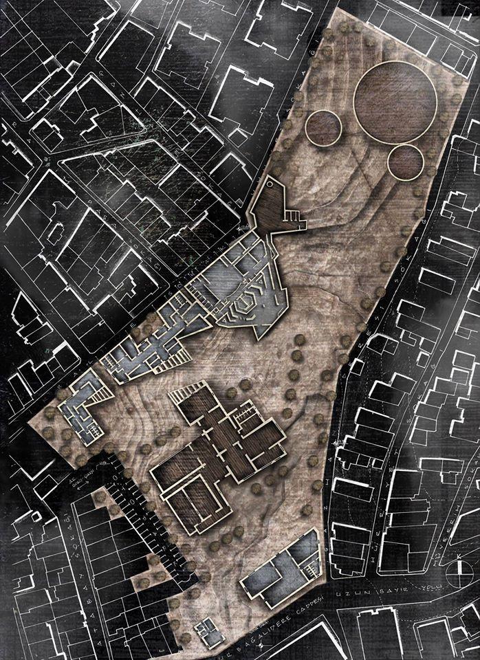Site Plan  gazhaneCampus, Istanbul, Turkey Scale: 1/500 YTU Department of Architecture Architectural Design Studio Autor: Yasemen Say Ozer