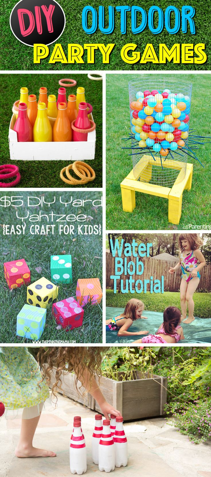 38 Easy-To-Make and Fun-Filled Outdoor Party Games For The Family  | See more DIY videos here  → http://gwyl.io/