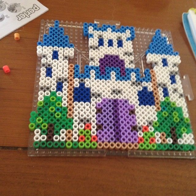 Fairy castle perler beads by the.official.levy