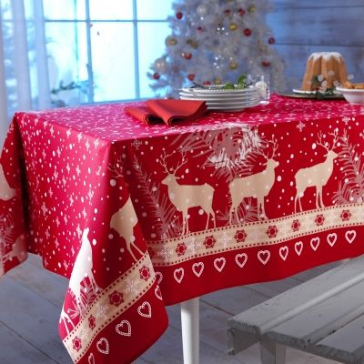 1000 Images About Nappes De Noel On Pinterest Noel Tablecloths And Rennes