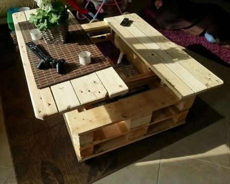 DIY Pallet Lift Top Coffee Table | Life Top Coffee Table Guide | Enjoy numerous activities right from the comfort of your couch and lift top coffee table.