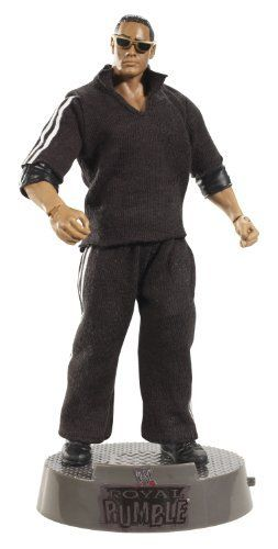 WWE Entrance Greats The Rock Collector Figure by Mattel. $14.30. Superstar figures comes dressed in an intricate costume. Celebrate the most legendary entrances in the history of the WWE. Perfect for the ultimate WWE fans and collectors of all ages. Collectors will love these authentically sculpted and highly-detailed figures. Includes base that plays the Superstars famed entrance music. From the Manufacturer                World Wrestling Entertainment Entrance Greats ...