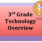 3rd Grade Technology Overview = Third graders are writing in word, powerpoint, and excel, expanding basic keyboarding skills, and publishing with t...