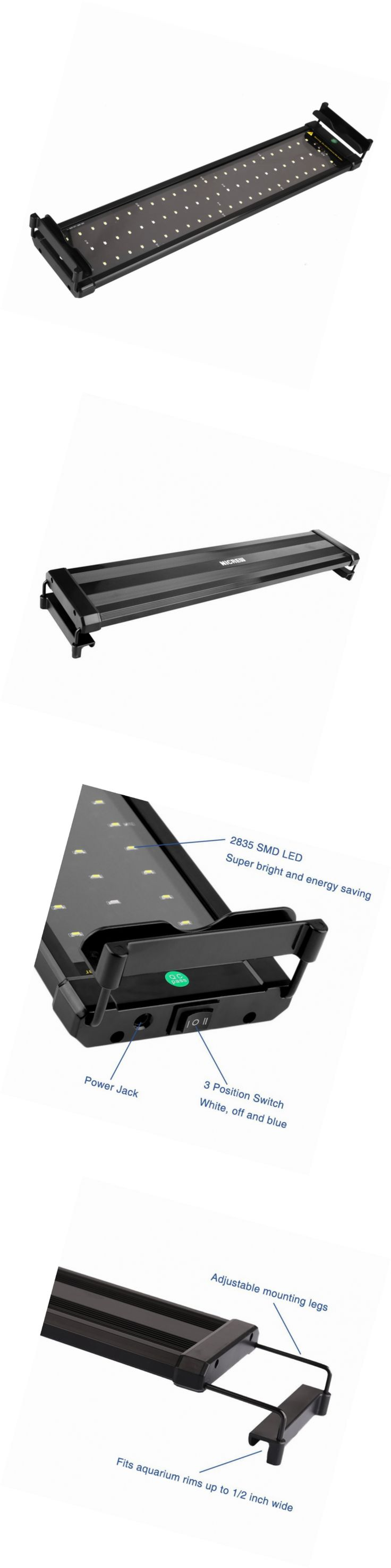 Bl system how many fish in a 55 aquaponics tank info - Lighting And Bulbs 46314 Nicrew Led Aquarium Light Fish Tank Light With Extendable Brackets