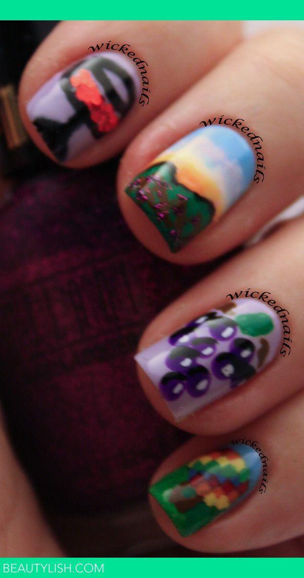 Grape Nail Art