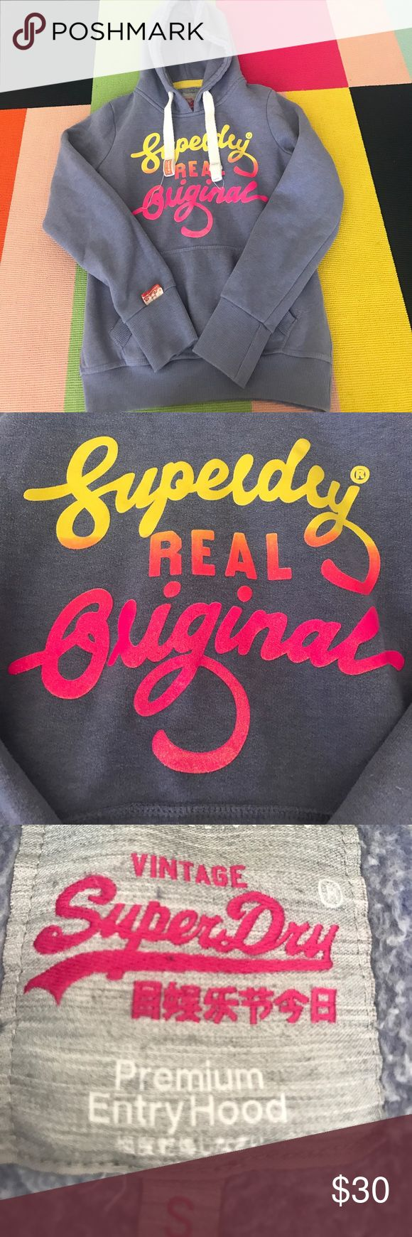 super dry sweatshirt light purple sweatshirt with colored logo Superdry Tops Sweatshirts & Hoodies