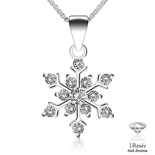 #10: J.Rosée Necklace Snowflake 925 Sterling Silver 3A Zirconia Pendant Necklace Gift for Lover This is a top choice among the most selling products online in Jewelry  category in Canada. Click below to see its Availability and Price in YOUR country.