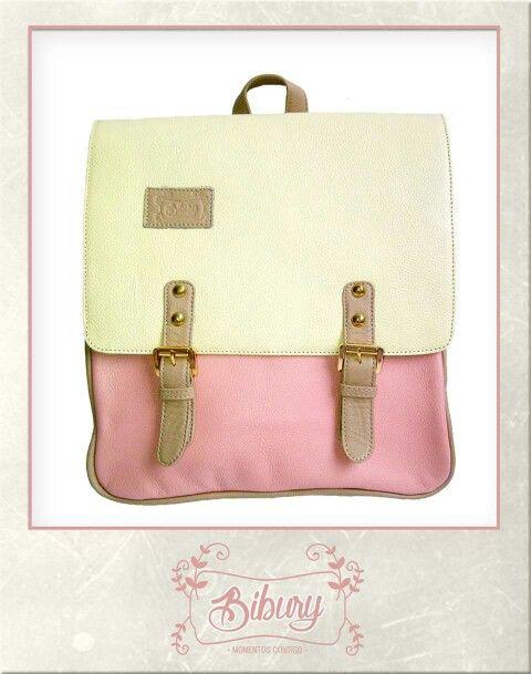 Backpack combinación rosado, divino combina con todo!!!