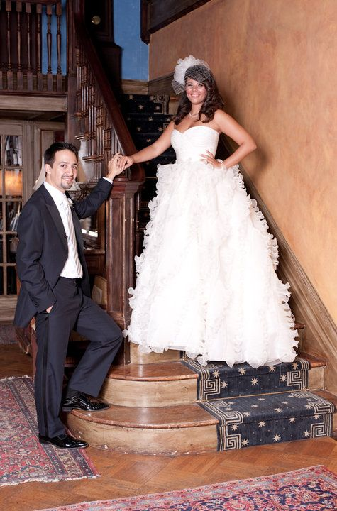 Lin-Manuel Miranda and�Vanessa vandal's wedding picture