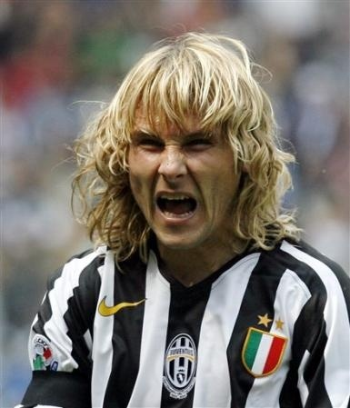 The immeasurable Pavel Nedved, Juventus legend and part time tricky pooer