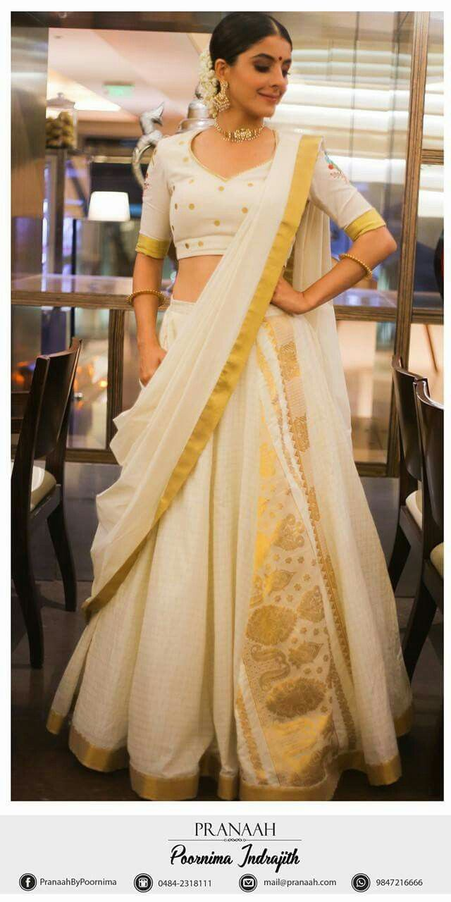 aa6b7c409f2b4d Shoutout to all the South Indian brides out there Saree Dress, Kerala Saree  Blouse,