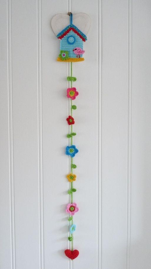 "Crochet ""Birdhouse"" inspiration."