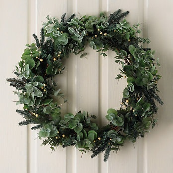Eucalyptus And White Berry Wreath - Christmas Decorations | The White Company