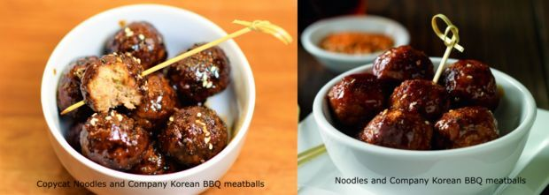 Copycat Noodles and Company Korean BBQ Meatballs