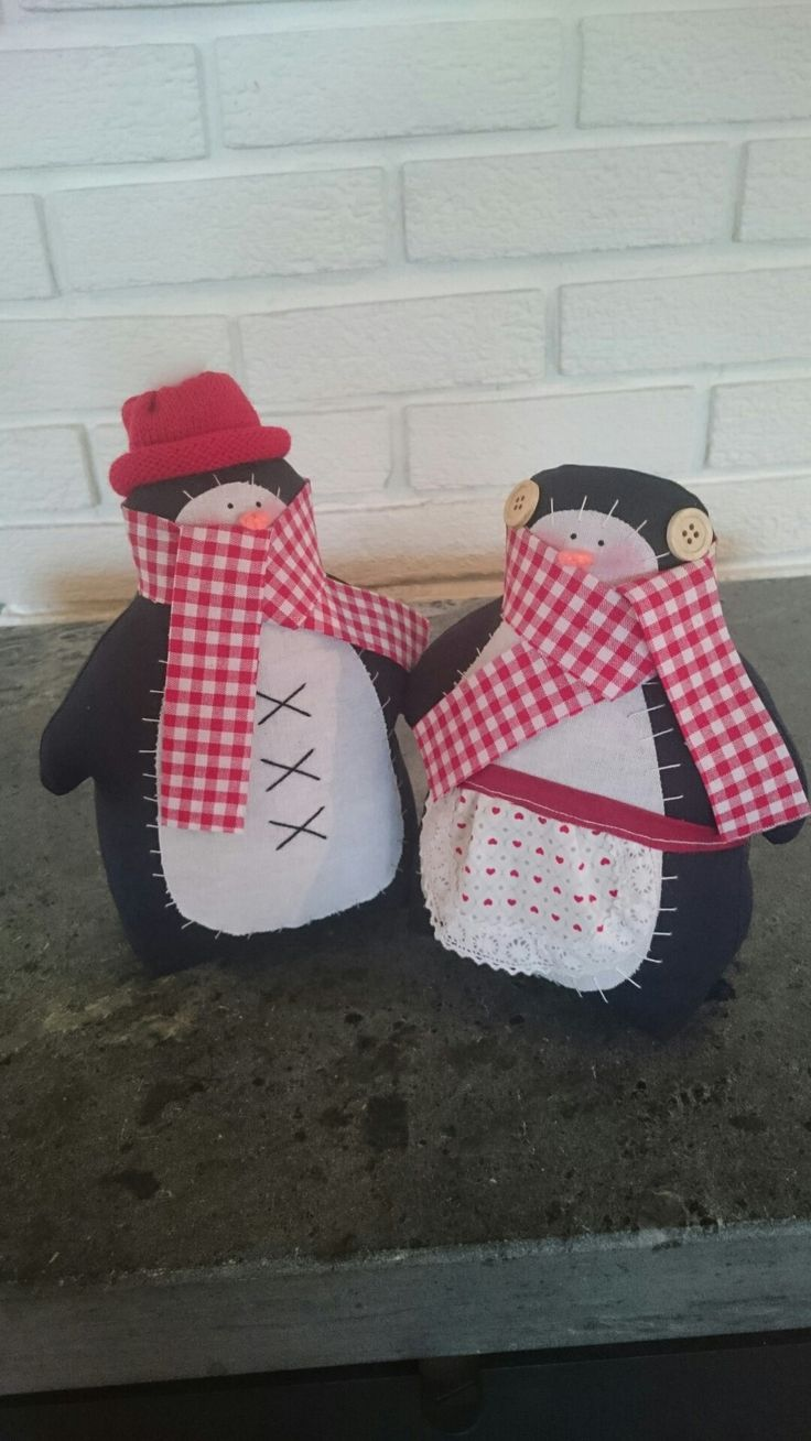 Tilda inspired penguins for Christmas
