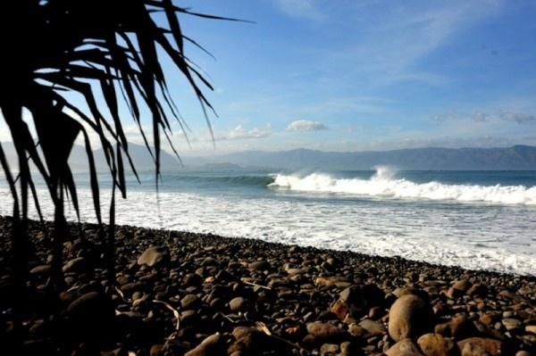 Cimaja Beach 'the best surf spots', Cisolok village - west java, Indonesia