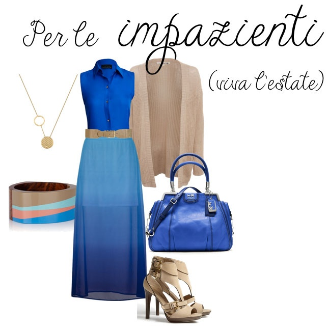 Gonna lunga - polyvore outfit - long skirt - per le impazienti