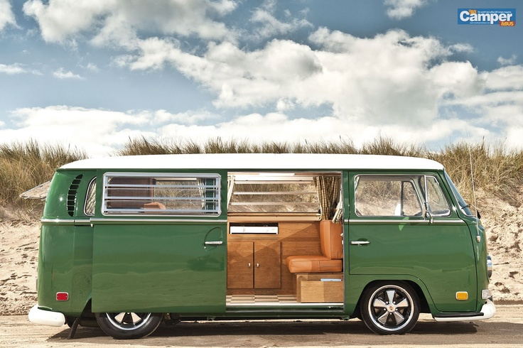 I've always wanted an old school vw bus...not sure why. But I want one