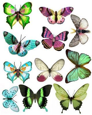 """funky butterflies from """"What a Beautiful Mess"""" printable"""