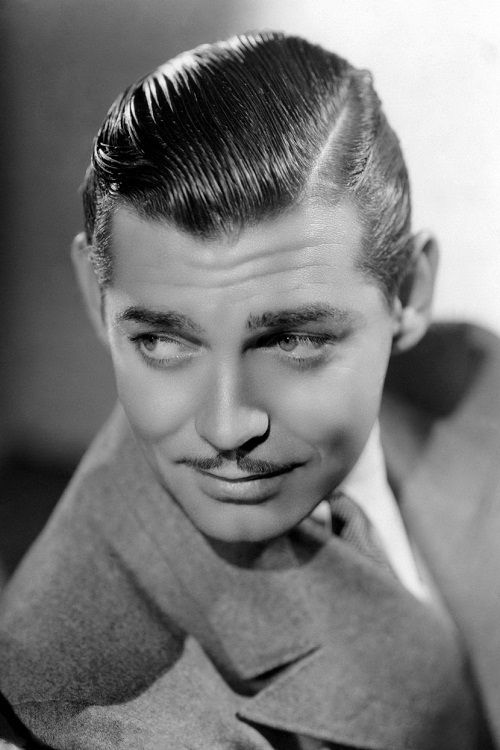 Gamblers - side part, slicked back (Clark Gable)