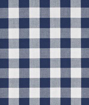"Robert Kaufman 1"" Navy Blue Carolina Gingham Fabric - $6.95 | onlinefabricstore.net"