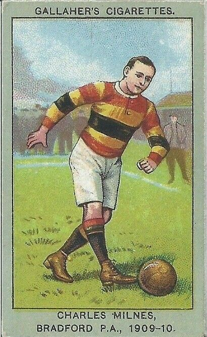 Charles Milnes Of Bradford Park Avenue In 1909 10