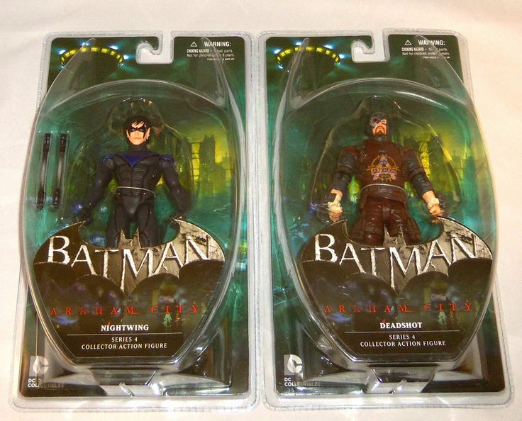 DC DIRECT  Batman Arkham City Series 4 DEADSHOT & NIGHTWING Figures