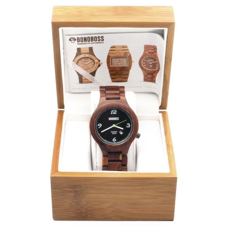 Reloj de madera de rosal natural, Hicka fabricado con movimiento Quartz Japonés garantizado por un año, dial de 44mm, incluye garantía y empaque de madera de regalo, encuéntralo en www.bonoboss.cl y en nuestras tiendas de Santiago y Maitencillo!.  #Bonoboss #lentes #sunglasses #chile #design #handmade #wood #wooden #madera #hechoamano