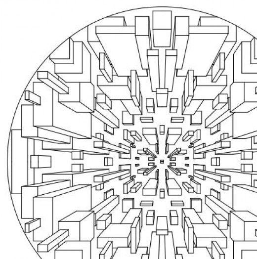 mandala geometric printable coloring pages | 3D Designs Coloring Books | Geometric coloring pages, Free ...