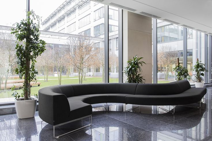 NOTI #upholstered #workplace #sofa from MODULAR collection #design by #PiotrKuchcinski #office #hotel #WavyLine